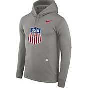 Nike Men's USA Hockey Therma-FIT Grey Pullover Hoodie