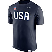 Nike Men's USA Hockey Legion Crest Navy Performance T-Shirt