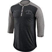 Nike Men's San Francisco Giants Dri-FIT Three-Quarter Sleeve Henley Shirt