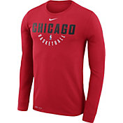 Nike Men's Chicago Bulls Dri-FIT Red Practice Long Sleeve Shirt