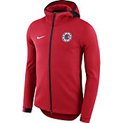 Nike Men's Los Angeles Clippers On-Court Red Dri-FIT Showtime Full-Zip Hoodie