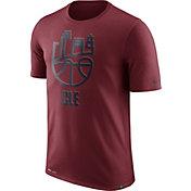 Nike Men's Cleveland Cavaliers Dri-FIT Burgundy Cityscape T-Shirt