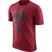 Nike Men's Miami Heat Dri-FIT Red Cityscape T-Shirt