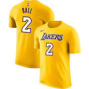 Nike Men's Los Angeles Lakers Lonzo Ball #2 Dri-FIT Gold T-Shirt