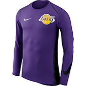 Nike Men's Los Angeles Lakers Dri-FIT Hyper Elite Purple Long Sleeve Shirt