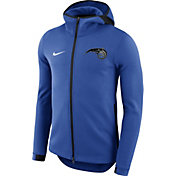 Nike Men's Orlando Magic On-Court Royal Dri-FIT Showtime Full-Zip Hoodie