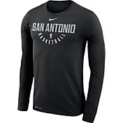 Nike Men's San Antonio Spurs Dri-FIT Black Practice Long Sleeve Shirt