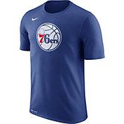 Nike Men's Philadelphia 76ers Dri-FIT Royal Logo T-Shirt