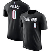 Nike Men's Portland Trail Blazers Damian Lillard #0 Dri-FIT Black T-Shirt
