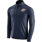 Nike Men's Oklahoma City Thunder Dri-FIT Navy Element Half-Zip Pullover