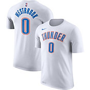 Nike Men's Oklahoma City Thunder Russell Westbrook #0 Dri-FIT White T-Shirt