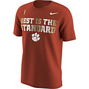 Nike Men's Clemson Tigers Orange 'Best is the Standard' Football Mantra T-Shirt