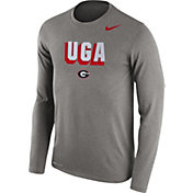 Nike Men's Georgia Bulldogs Grey Dri-FIT Franchise Long Sleeve T-Shirt