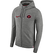 Nike Men's Georgia Bulldogs Grey AW77 French Terry Full-Zip Hoodie