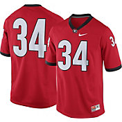 Nike Men's Georgia Bulldogs #34 Red Game Football Jersey