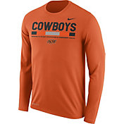 Nike Men's Oklahoma State Cowboys Orange Football Sideline Staff Legend Long Sleeve Shirt