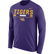 Nike Men's LSU Tigers Purple Football Sideline Staff Legend Long Sleeve Shirt