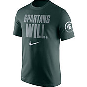 Nike Men's Michigan State Spartans Green Dri-Fit Verbiage Performance T-Shirt