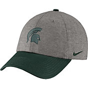 Nike Men's Michigan State Spartans Grey/Green Heritage86 Heather Adjustable Hat