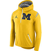 Jordan Men's Michigan Wolverines Maize Fly Rush Football Jacket