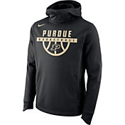 Nike Men's Purdue Boilermakers Basketball Performance Elite Black Hoodie