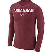 Nike Men's Arkansas Razorbacks Cardinal Marled Dri-FIT Long Sleeve Shirt