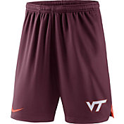 Nike Men's Virginia Tech Hokies Maroon Knit Football Performance Shorts