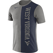 Nike Men's West Virginia Mountaineers Grey/Blue Coin Flip T-Shirt