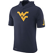 Nike Men's West Virginia Mountaineers Blue Basketball Hoodie Performance T-Shirt