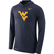 Nike Men's West Virginia Mountaineers Blue Dri-Blend Hoodie Long Sleeve Shirt