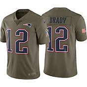 Nike Men's Home Limited Salute to Service 2017 New England Patriots Tom Brady #12 Jersey