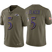 Nike Men's Home Limited Salute to Service Baltimore Ravens Joe Flacco #5 Jersey