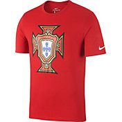 Nike Men's 2018 FIFA World Cup Portugal Crest Red T-Shirt