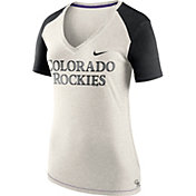 Nike Women's Colorado Rockies Fan V-Neck Shirt