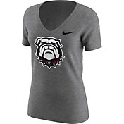 Nike Women's Georgia Bulldogs Grey Alt Logo Tri-Blend Football T-Shirt