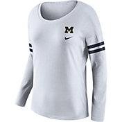 Nike Women's Michigan Wolverines Tailgate White Long Sleeve Shirt
