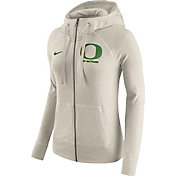 Nike Women's Oregon Ducks Heathered Oatmeal Gym Vintage Full-Zip Hoodie