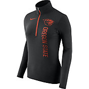 Nike Women's Oregon State Beavers Heathered Black Element Half-Zip Shirt