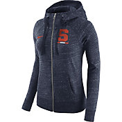Nike Women's Syracuse Orange Heathered Blue Gym Vintage Full-Zip Hoodie