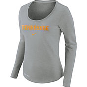Nike Women's Tennessee Volunteers Heathered Gray Slub Dri-FIT Long Sleeve Shirt