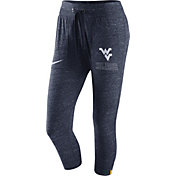 Nike Women's West Virginia Mountaineers Heathered Blue Gym Vintage Capri Pants