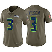 Nike Women's Home Limited Salute to Service 2017 Seattle Seahawks Russell Wilson #3 Jersey