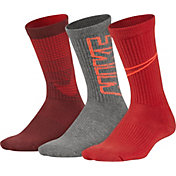 Nike Boys' Performance Cushion Crew Socks 3 Pack