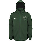 Nike Youth Milwaukee Bucks On-Court Green Dri-FIT Showtime Full-Zip Hoodie
