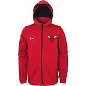 Nike Youth Chicago Bulls On-Court Red Dri-FIT Showtime Full-Zip Hoodie