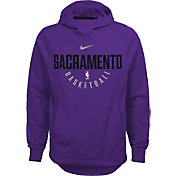 Nike Youth Sacramento Kings Therma-FIT Purple Practice Performance Hoodie