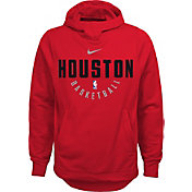 Nike Youth Houston Rockets Therma-FIT Red Practice Performance Hoodie