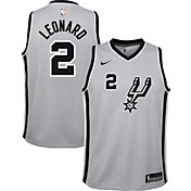 Nike Youth San Antonio Spurs Kawhi Leonard #2 Grey Statement Dri-FIT Swingman Jersey