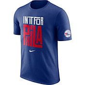 "Nike Youth Philadelphia 76ers Dri-FIT ""In It For Phila"" Royal T-Shirt"