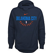Nike Youth Oklahoma City Thunder Therma-FIT Navy Practice Performance Hoodie